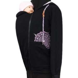 Jaquette de portage Angelwings hoodie black