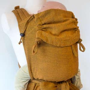 Porte bébé écharpe en tissu BIO moutarde Girasol