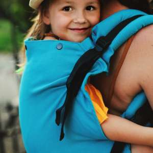 Porte bébé Little Frog Toddler carrier XL petrole Herringbone