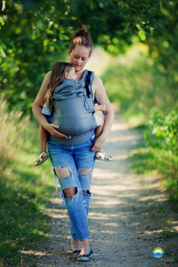 Porte bébé Little Frog Toddler carrier XL graphite Herringbone