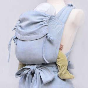Porte bébé à nouer, mei taille, coton, physiologique, pastel, nouveau né |Girasol