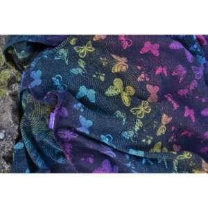 Sling echarpe de portage Yaro Woodland Duo Black Lights Rainbow