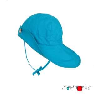 Chapeaux anti-UV naturel en chanvre ManyMonths évolutif bleu clair.