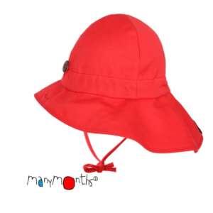 Chapeaux anti-UV naturel en chanvre ManyMonths évolutif rouge