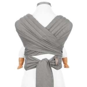 Porte bébé écharpe en tissu gris évolutif Fidella