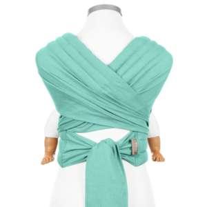 Porte bébé écharpe turquoise BIO en coton Fidella