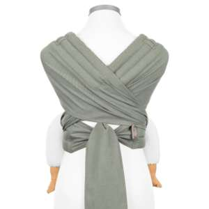 Porte bébé grande taille, tissu BIO, 12 mois, évolutif, vert olive kaki |Fidella