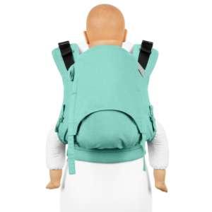 Fidella-fusion-v2-fullbuckle-porte-bebe-chevron-turquoise-menthe-bambin