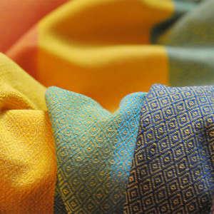 Sling de portage Girasol multicolore jaune - coton résistant