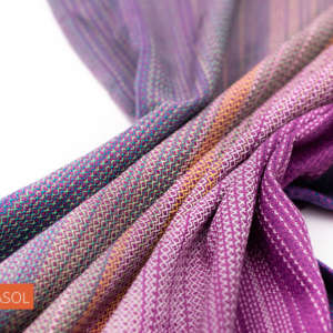 Echarpe de portage Girasol violet - tissé coton résistant
