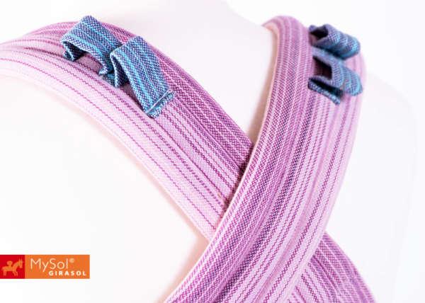 Porte bébé physiologique en tissu pastel