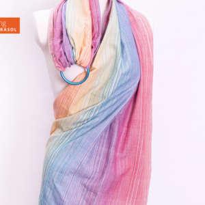 Sling de portage en tissu multicolore pastel Girasol