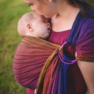 Sling de portage en tissu multicolore foncé Girasol