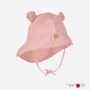 Chapeau anti Uv naturel de Manymonths! Grâce au chanvre, votre bébé sera protéger du soleil avec la protection nuque et visage! Livraison en Suisse
