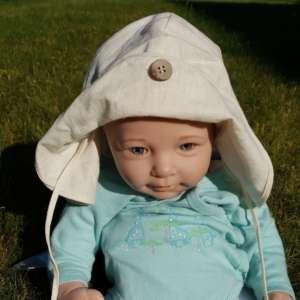 Chapeau bébé anti uv naturel manymonths et évolutif beige