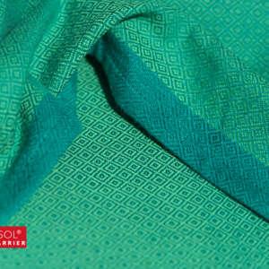 Echarpe de portage Girasol vert - tissé coton résistant