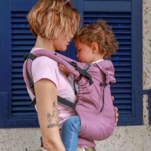 Porte bébé physiologique violet enfant