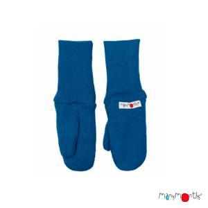 Gants moufle en laine mérinos enfants ManyMonths bleu