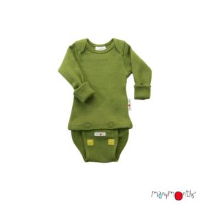 Body en laine mérinos pour bébé Garden Moss manymonths