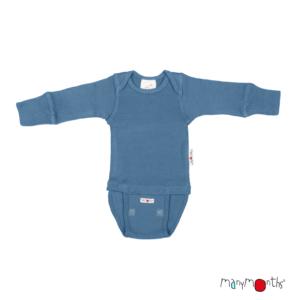 Body en laine mérinos pour bébé Cosmos Blue Manymonths