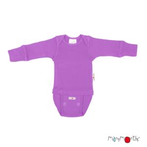 Body en laine mérinos pour bébé Lavender Crystal Manymonths