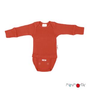 Body en laine mérinos pour bébé rooibos red Manymonths