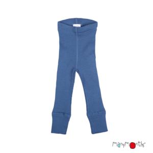 Leggins en laine mérinos pour enfants ManyMonths bleu