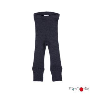 Leggins en laine mérinos pour enfants ManyMonths noir