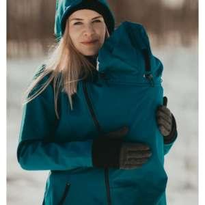 La veste de portage soft shell. Pour se balader avec bébé toute l'année. Sous la pluie ou la neige! Livraison en Suisse